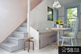 田园混搭风格复式楼房楼梯设计
