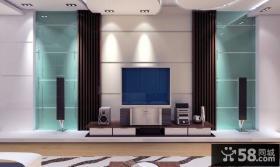 现代清新电视背景墙装修效果图大全2013图片
