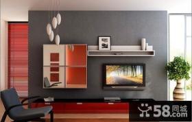 小户型电视背景墙装修效果图2013