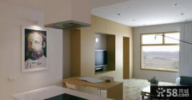 简约自然的小户型客厅电视背景墙装修效果图大全