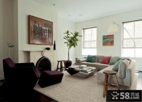 简约风格80平小户型客厅装修效果图