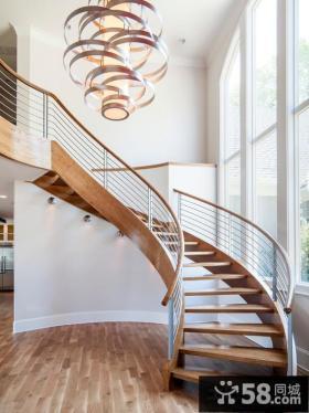 弧形小别墅楼梯设计图