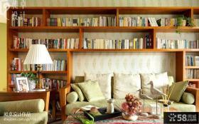 东南亚风格客厅书房设计效果图