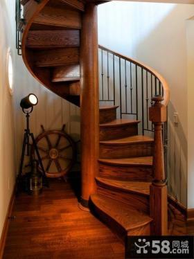 实木旋转楼梯设计图