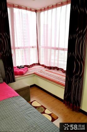 卧室转角飘窗设计效果图
