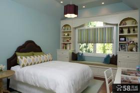 欧式小卧室飘窗装饰设计图