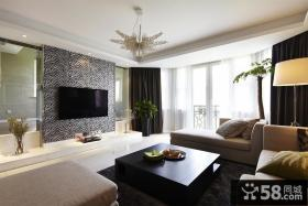 美式现代设计客厅电视背景墙图