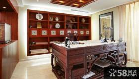 中式古典装修风格书房效果图