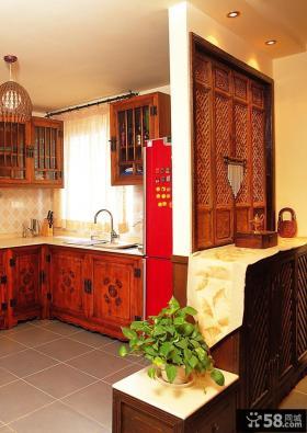 东南亚风格复式厨房隔断装修效果图