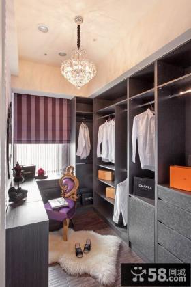 欧式别墅室内衣帽间设计效果图片