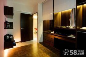 现代80平小户型卧室衣柜设计图