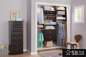 现代开放式衣柜设计效果图