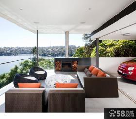 美式风格室内装修阳台设计图片欣赏