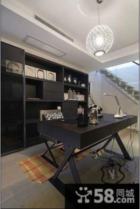现代家装复式楼书房设计