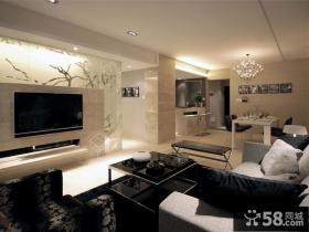 客厅瓷砖电视背景墙装修效果图片