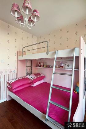 现代女孩儿童房间装修图片