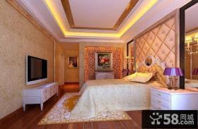卧室电视背景墙壁纸设计效果图
