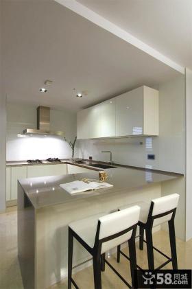 现代素雅别致装修厨房设计