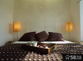 卧室床头瓷砖背景墙装修效果图欣赏