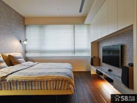 现代简约设计卧室电视背景墙图欣赏大全