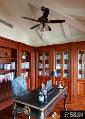 美式乡村设计风格书房效果图