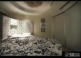 现代简约风格卧室床头背景墙效果图片大全