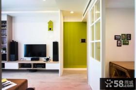 简约风格客厅背景墙设计装饰效果图