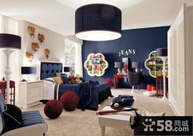 锦绣御园房屋装修地中海风格客厅背景墙装修效果图