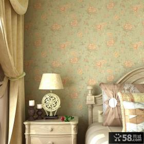 卧室复古碎花壁纸图片欣赏