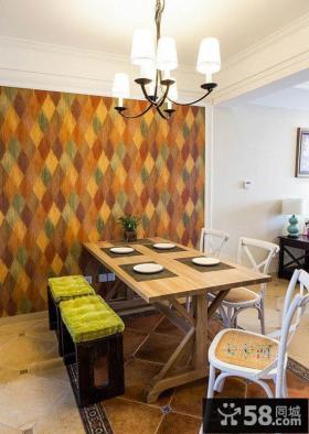 时尚美式小户型家装设计餐厅效果图