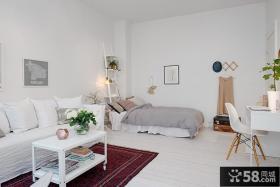 北欧小户型客厅卧室效果图