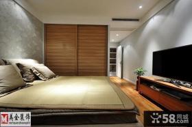 现代中式风格卧室电视背景墙效果图