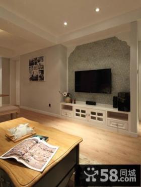 家庭设计小客厅电视背景墙图片欣赏