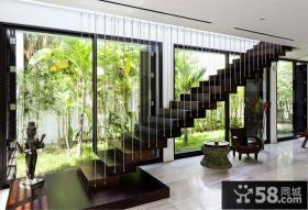 简约自然风别墅设计楼梯效果图片