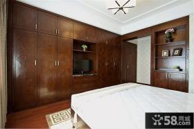 中式实木组合衣柜家具