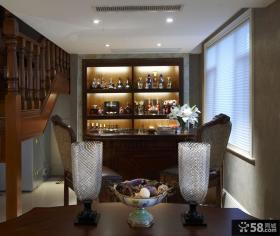 豪华复式装修酒柜设计图片