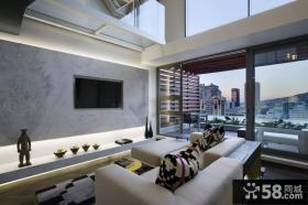家装室内复式客厅效果图