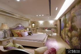 豪华复古欧式卧室全貌设计效果图