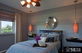 现代美式卧室装修样板间