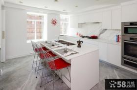 美式风格厨房装修图欣赏2014