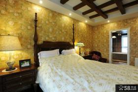 美式田园主卧室装修实例