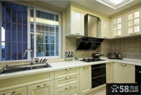 欧式风格厨房白色橱柜效果图