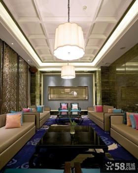 中式新古典风格客厅效果图大全