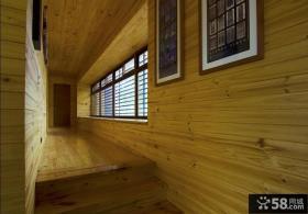 日式复式家居楼梯间走廊墙面装修