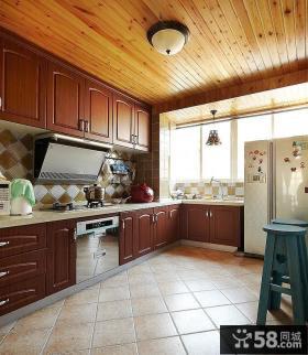 厨房桑拿板吊顶效果图