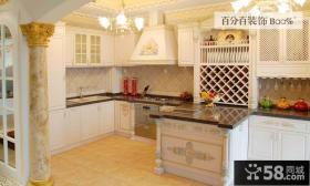 欧式家庭厨房装修图2014