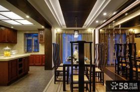新中式古典餐厅装潢设计