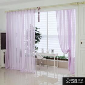 紫色阳台窗帘效果图
