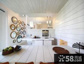 复式楼时尚创意开放式家庭厨房装修效果图大全2014图片