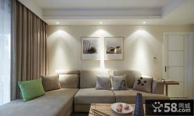 简约沙发背景墙装饰画图片